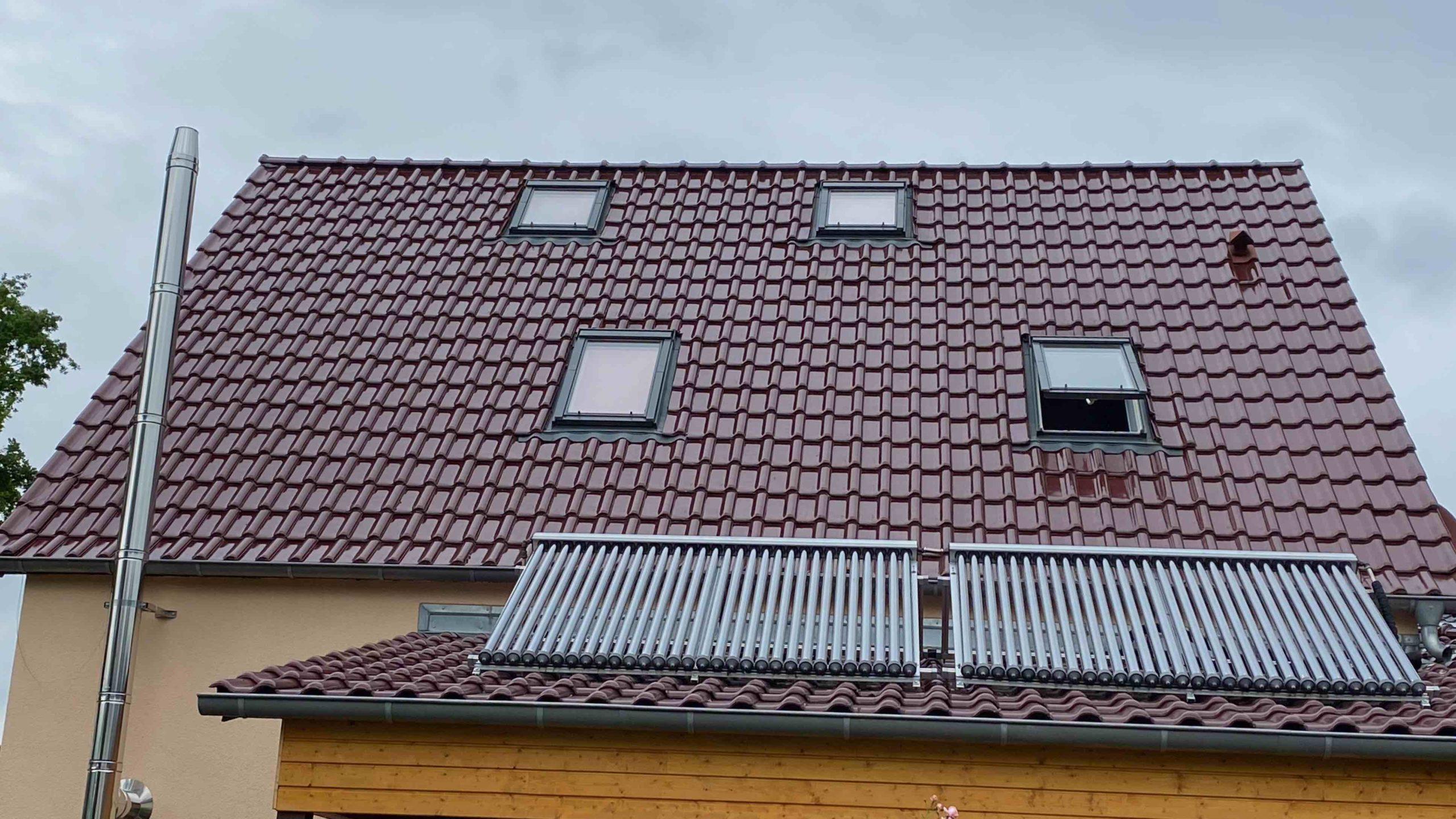 Dach zu Beginn der Planung